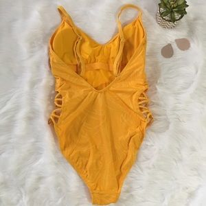 One Love Swim - Sexy Yellow/Gold One Piece Suit